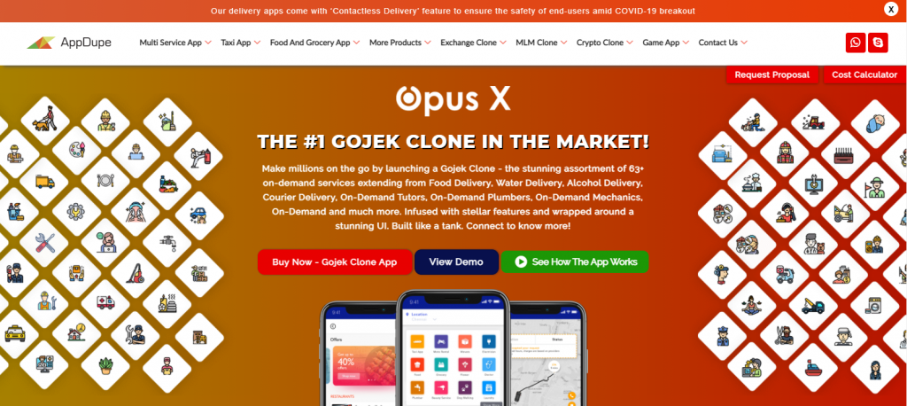 Appdupe Gojek Clone Script Page